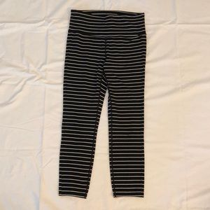 Athleta black/white stripe pants